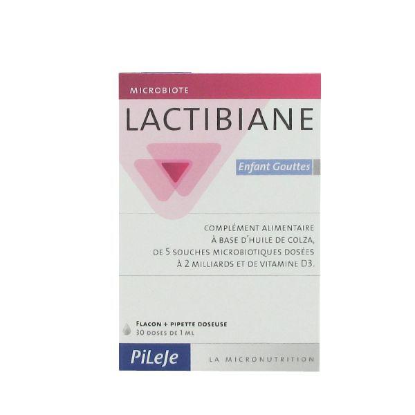 Lactibiane Enfant Flacon 30 doses de 1ml moins cher  Pileje