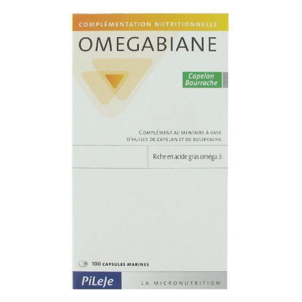 Omegabiane Capelan Bourrache 100 Capsules moins cher| Pileje