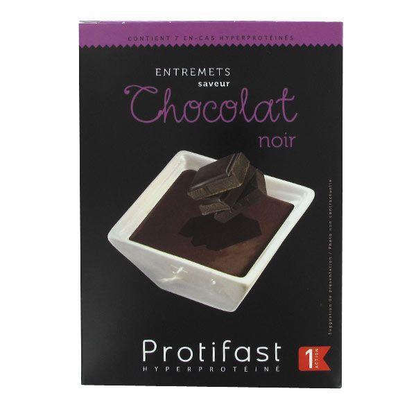 Entremets Chocolat Noir 7 Sachets à prix bas  Protifast