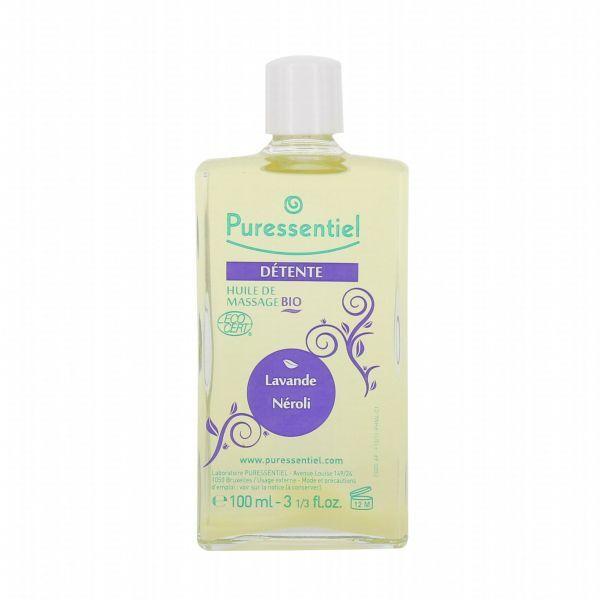 Huile de Massage bio Détente à  la lavande et au néroli 100ml moins cher| Puressentiel