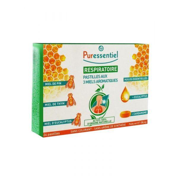 Respiratoire 24 Pastilles aux 3 miels aromatiques  à prix discount| Puressentiel