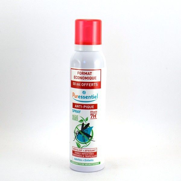 Anti-Pique Spray Repulsif et Apaisant 200ml dont 50ml offerts  à prix bas| Puressentiel