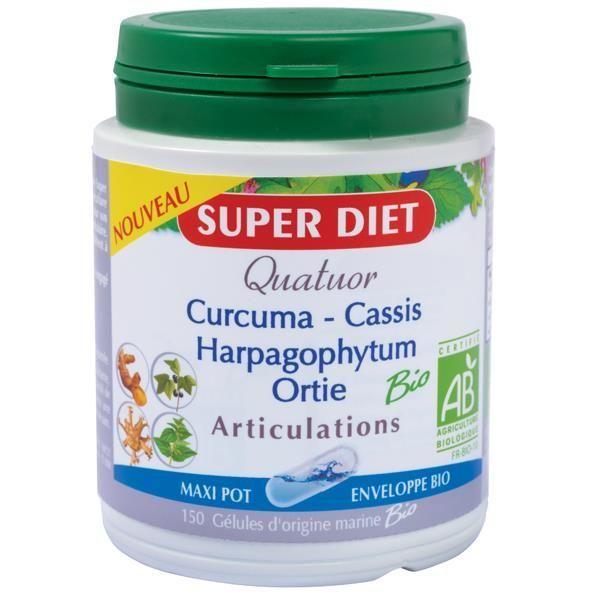 Quatuor Articulations Bio 150 gélules à prix bas| Super Diet