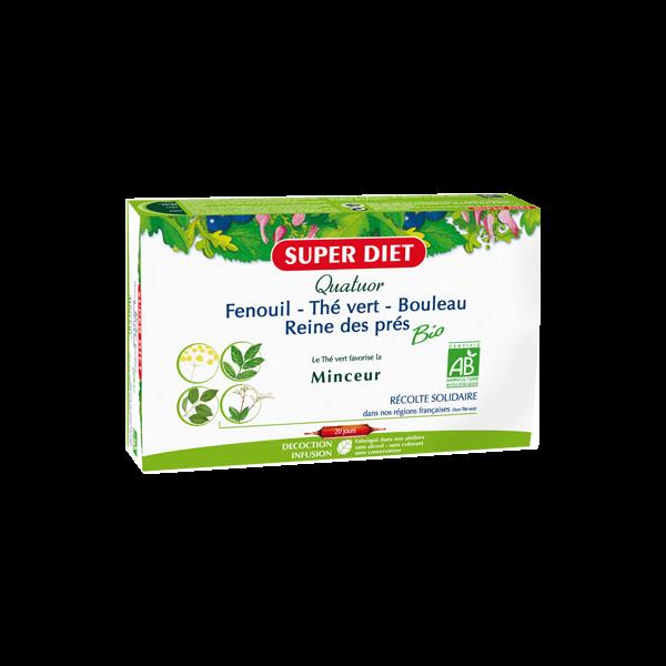 Quatuor Minceur Bio 20 Ampoules moins cher| Super Diet