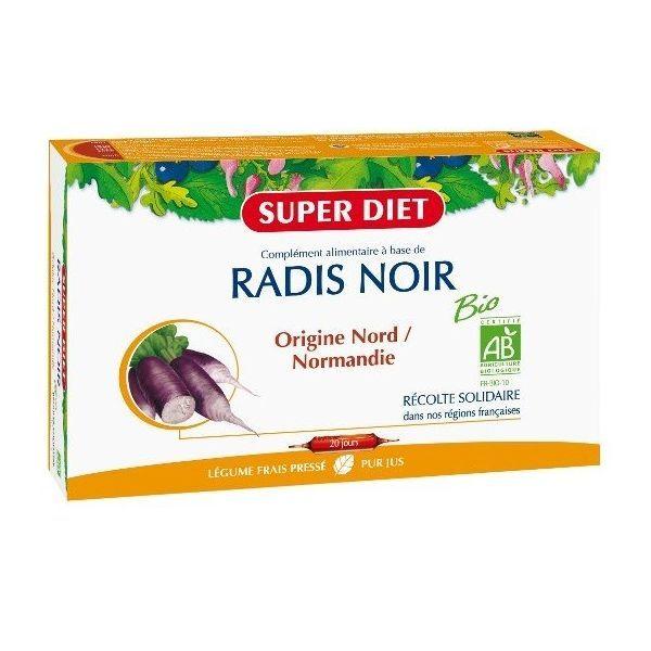 Radis Noir Bio 20 Ampoules à prix bas  Super Diet