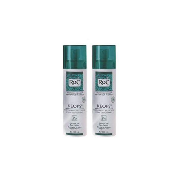Keops Déodorant  fraîcheur Atomiseur 2x150ml à prix bas  RoC