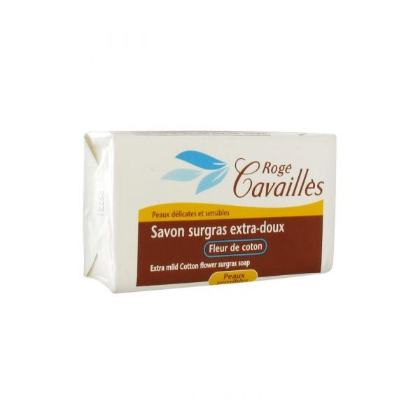 Savon Surgras Extra-doux Fleur de Coton 250 gr à prix discount  Rogé Cavaillès