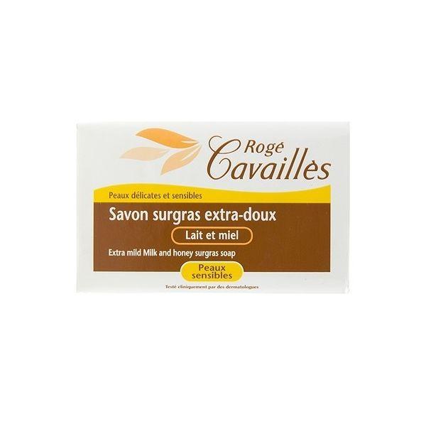 Savon Surgras Extra-doux Lait et Miel 2x250 gr à prix discount| Rogé Cavaillès