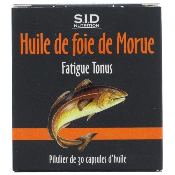 Huile de Foie de Morue 30 Capsules à prix discount| SID Nutrition