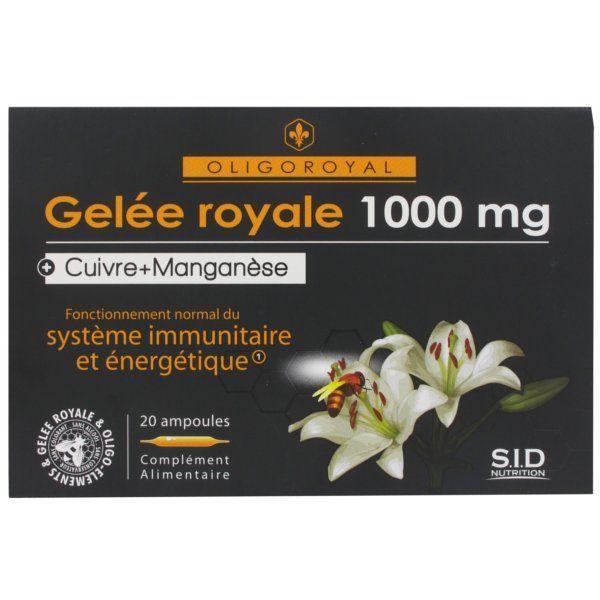 Gelée Royale+Cuivre+Manganèse au meilleur prix  SID Nutrition