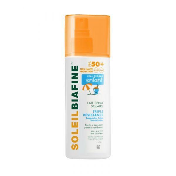 Enfant FPS 50+ Lait Spray Solaire Très haute Protection 200ml à prix discount| Soleil biafine
