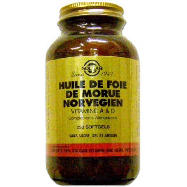 Huile de Foie de Morue 250 Gélules moins cher| Solgar