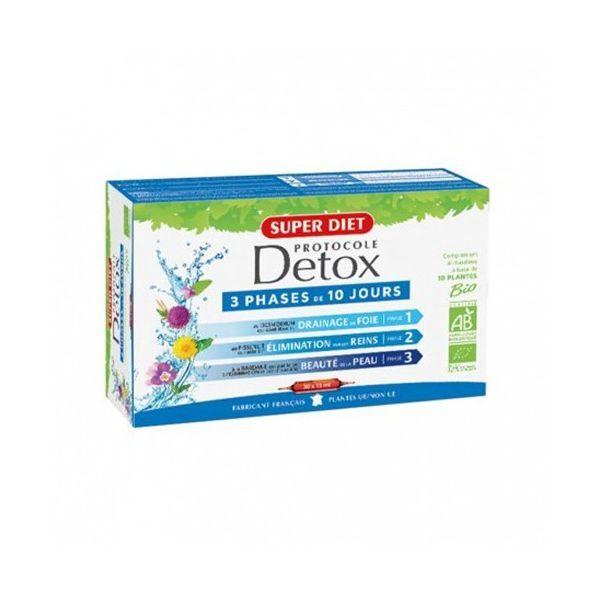 Protocole Detox 30 ampoules. au meilleur prix| Super Diet