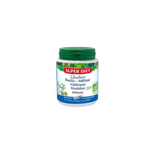 Quatuor Détente Bio 150 gélules à prix discount| Super Diet