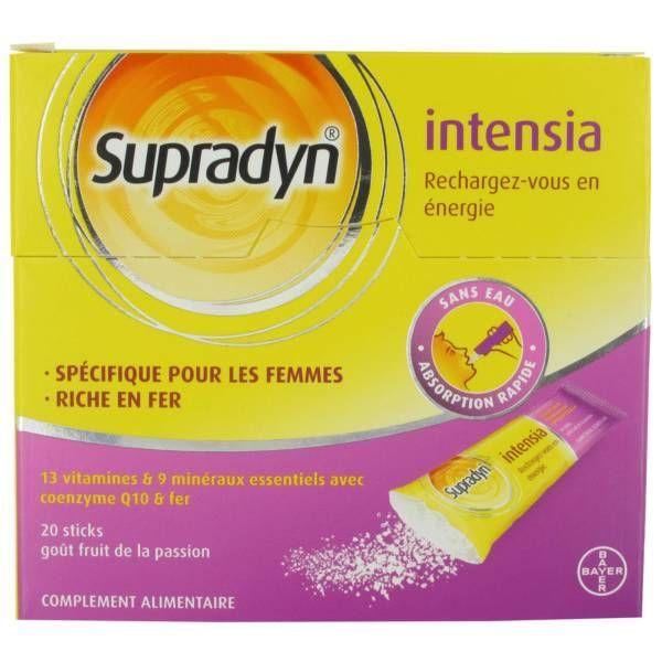 Supradyn Intensia 20 Sticks à prix discount| Bayer