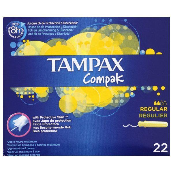 Compak Régulier 22 Tampons à prix discount| Tampax