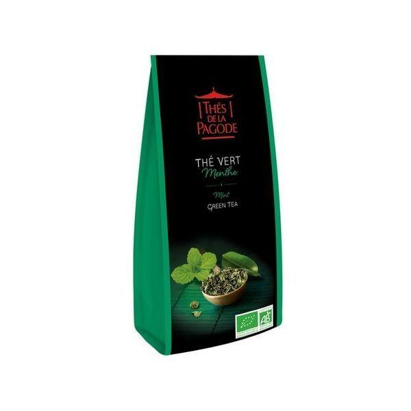 thé vert Menthe bio 100gr moins cher| Thés de la Pagode