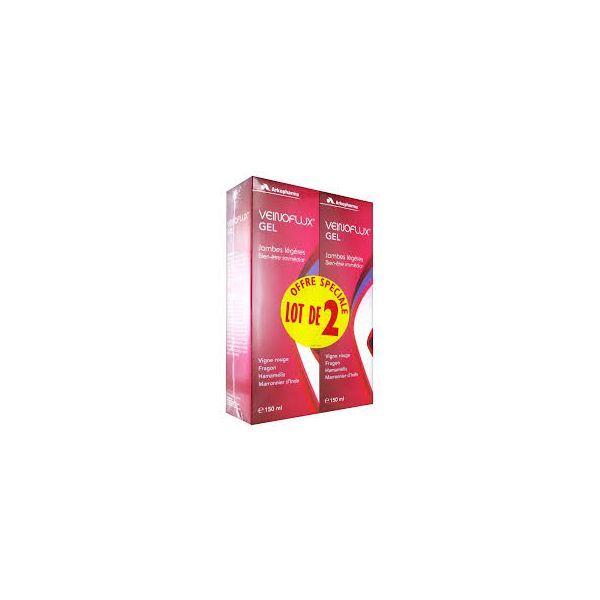 Veinoflux Gel Jambes Légères Bien-Etre immédiat 150mlX2  à prix bas  Arkopharma
