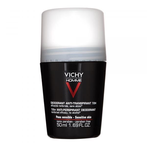 Homme Déodorant Anti-Transpirant 72 heures bille roll-On 50ml au meilleur prix| Vichy