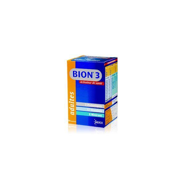 3 Défense Adultes  60 comprimés moins cher  Bion