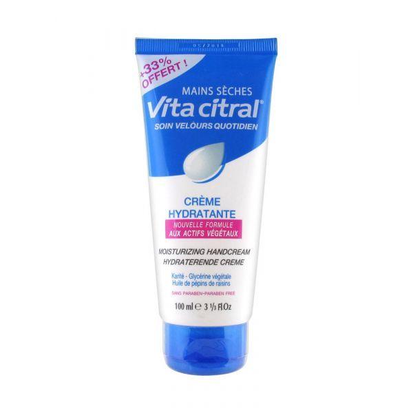 crème hydratante mains sèches 75ml + 25 ml offert moins cher| Vita Citral