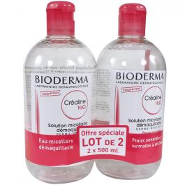 Créaline H2O Solution Micellaire 500ml X2 moins cher| Bioderma