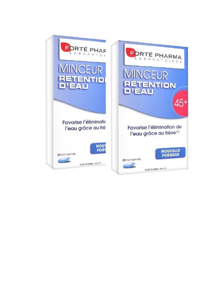 Forte Pharma Minceur Rétention d eau 45+ lot 2x28 comprimés