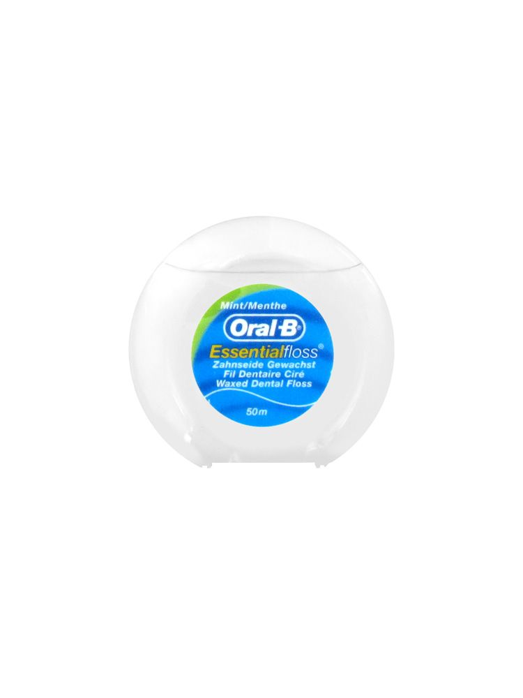 oral b essential floss fil dentaire cir gout menthe 50m. Black Bedroom Furniture Sets. Home Design Ideas