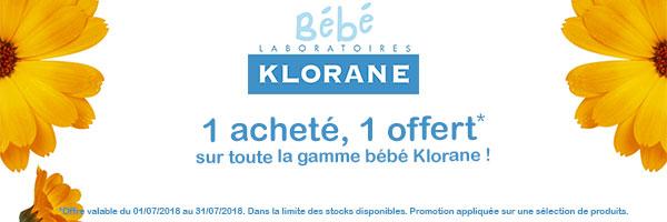Promo Klorane bébé
