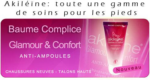 Gamme Akiléïne anti ampoule Baume et confort