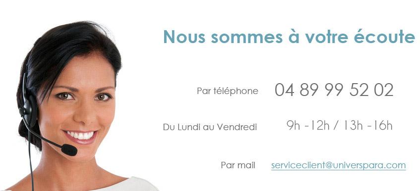 contact service client parapharmacie en ligne Universpara.com
