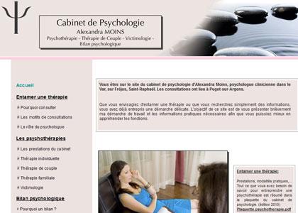 site de psychologue dans le Var: Fréjus, Draguignan, Alexandra Moins