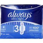 Always Serviettes Ultra Nuit x10