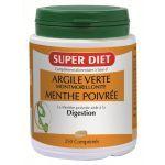 Super Diet Argile Verte Menthe Poivrée 250 comprimés