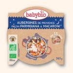 Babybio Assiette Bonne Nuit Aubergine de Provence façon Parmigiana, Macaroni 260g