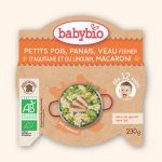 Babybio Assiette Petits Pois, Panais, Veau, Macaroni 230g