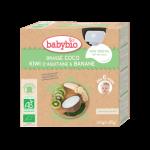 Babybio Brassé Coco Kiwi d'Aquitaine Banane Dès 6 Mois 4X85g