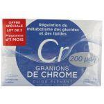 Laboratoire des Granions Granions de Chrome 200µg lot de 2X30 ampoules