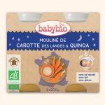 Babybio Petits Pots Mouliné de Carotte, Quinoa 2X200g