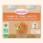 Babybio Petits Pots Carotte Potimarron, Pomme, Canard 2X200g