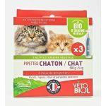 Vetobiol Bio Pipettes Chaton Chat X3