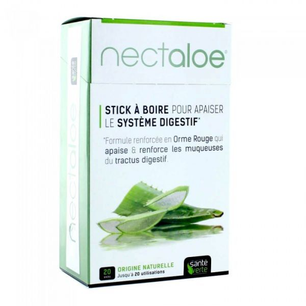Nectaloe 20 sticks à boire moins cher| Santé Verte