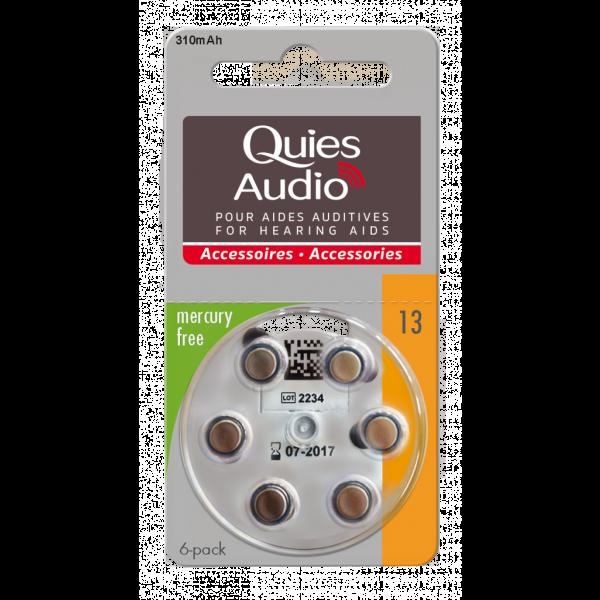 Audio Piles Pour Aides Auditives N°13 moins cher  Quies