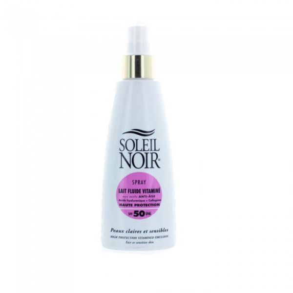Spray Lait Fluide Vitaminé Haute Protection IP50 150ml à prix bas  soleil noir