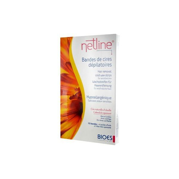 Netline Bandes de Cire Dépilatoire Corps x12 à prix discount| Bioes