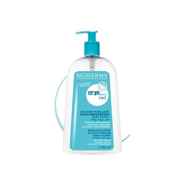 ABCderm H2O Solution Micellaire  1litre au meilleur prix  Bioderma