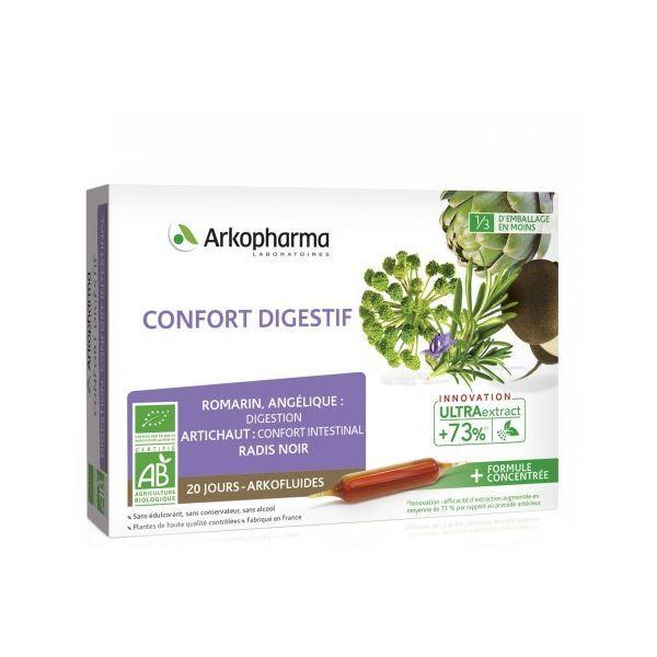 Bio Confort Digestif 20 ampoules au meilleur prix| Arkofluide