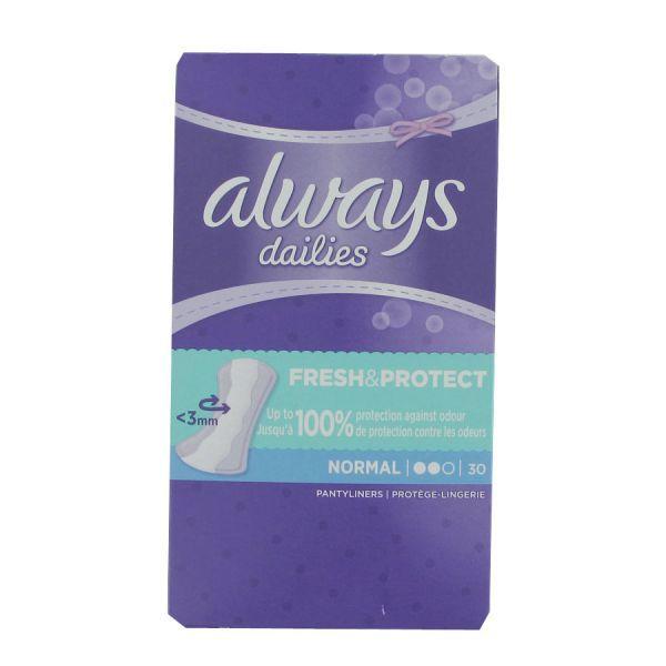 Dailies Fresh & Protect Normal 30 Protège-lingerie au meilleur prix| Always