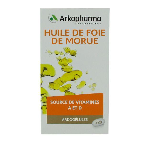 Huile de foie de morue 220 capsules à prix discount| Arkopharma