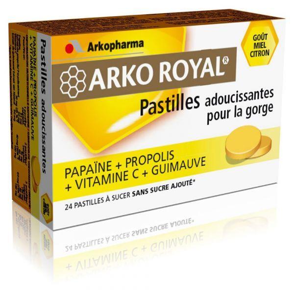 Pastilles Propolis et Papaïne Goût Miel Citron 24 pastilles  à prix bas| Arkopharma